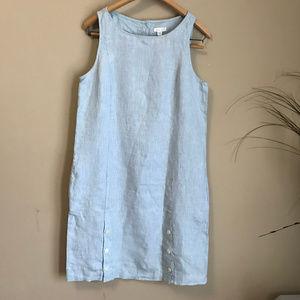 J Jill  100% Linen Blue Dress (S)